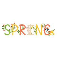 spring inscription banner vector image