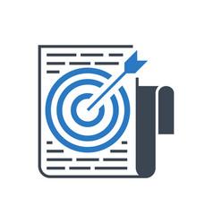 target keywords glyph icon vector image