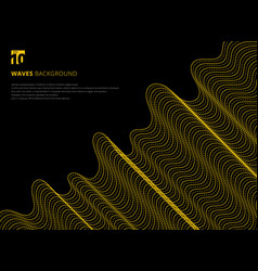 template design modern abstract 3d yellow line vector image