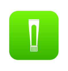 toothpaste tube icon digital green vector image