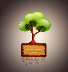 Tree with space for text design element vector