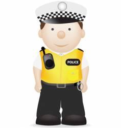 uk traffic police officer vector image