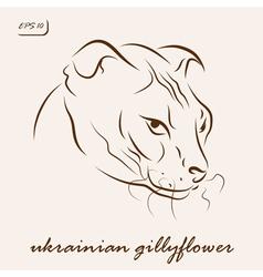 Ukrainian gillyflower cat vector