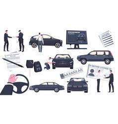 Used auto sale set vector