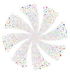 Vision fireworks swirl rotation vector
