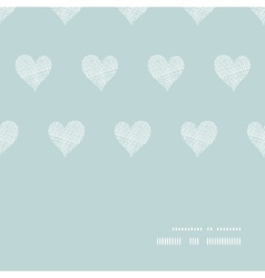 White lace hearts textile texture horizontal frame vector image