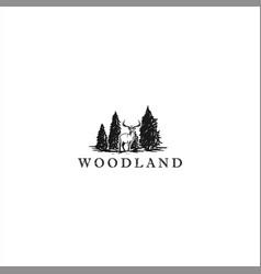 wildlife logo design template idea vector image