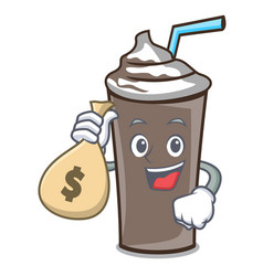 with money bag ice chocolate character cartoon vector image