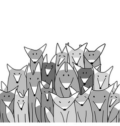 Wolf big family sketch for your design vector