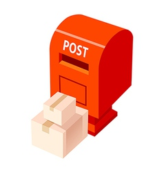 icon postbox and package vector image vector image