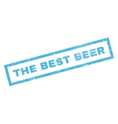 The Best Beer Rubber Stamp vector image