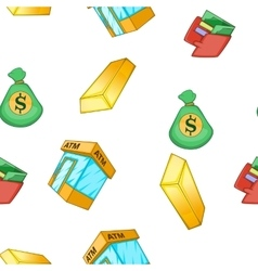 Bank and money pattern cartoon style vector image vector image