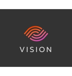 Eye logo symbol design creative camera media icon vector