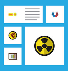 Flat icon study set of diagram attractive force vector