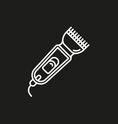 shaver symbol hairclipper icon vector image vector image