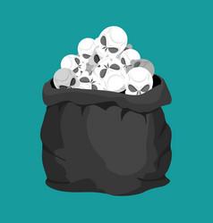skulls sack death bag sackful skeleton head vector image vector image
