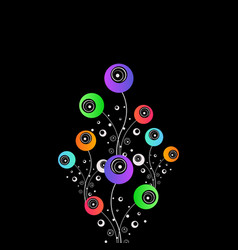 stylized flowers abstract design vector image
