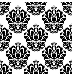 Symmetrical floral endlessly tracery vector image vector image