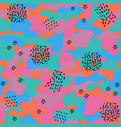camouflage seamless pattern in a violet green vector image