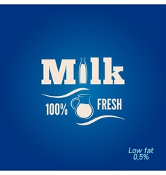 Milk bottle jar design menu background vector