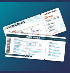travelling concept with airline boarding vector image