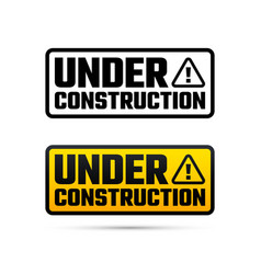under construction design website development vector image vector image