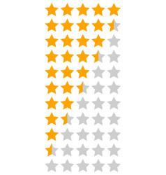 yellow orange 5 star rating infographic vector image
