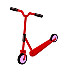 children red scooter transport for children walks vector image