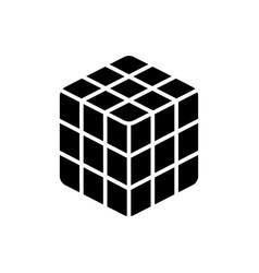 cube rubik icon black sign vector image