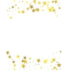 Gold glittering foil stars on white background vector