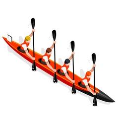 Kayak Sprint Four 2016 Sports 3D vector image