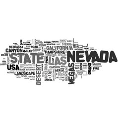nevada word cloud concept vector image