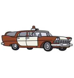 Old fire patrol car vector image