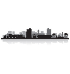 Port Elizabeth city skyline silhouette vector image vector image