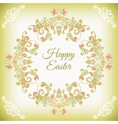 Spring cute floral frame vector image vector image