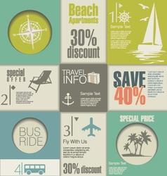 Travel modern design template vector