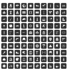 100 helmet icons set black vector