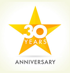 30 anniversary star logo vector