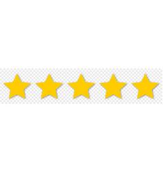 5 yellow stars icon customer feedback concept vector