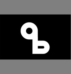 Ab a b black white bold joint letter logo vector