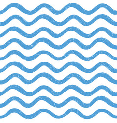 Abstract ocean wave seamless pattern wavy line vector