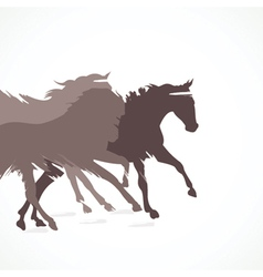 Abstract running horse background vector image