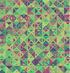 Abstract striped triangle mosaic background design vector image