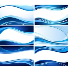 abstract wave set vector image
