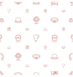 Accessory icons pattern seamless white background vector