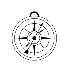 Analog compass icon image vector