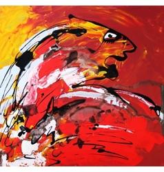 Art composition abstract tiger vector
