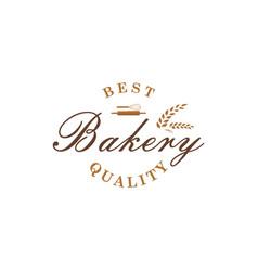 bakery dessert baverage sign logo template vector image