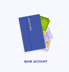 Bank account opening concept internet banking vector