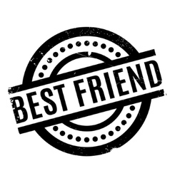 Best Friend rubber stamp vector